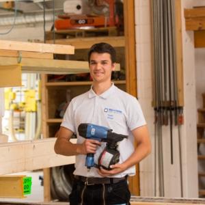 Azubi 2021 Zimmerer Holzbau Mörmann Noah Knopf